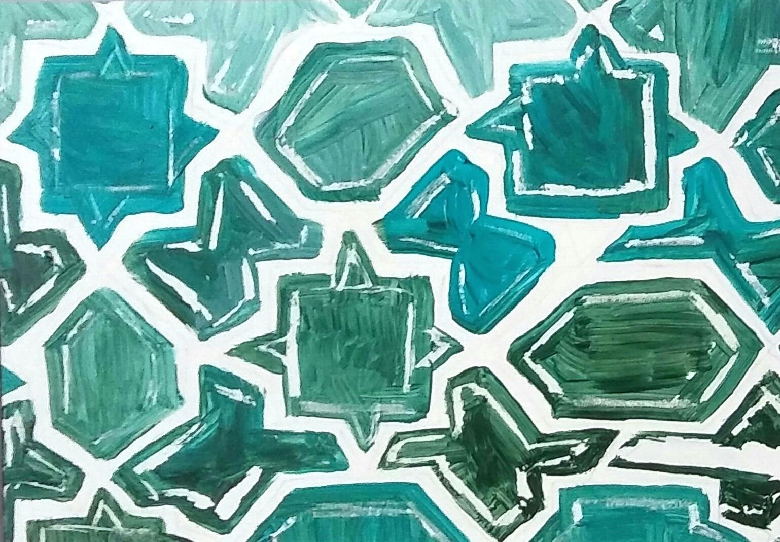 Turquoise shapes
